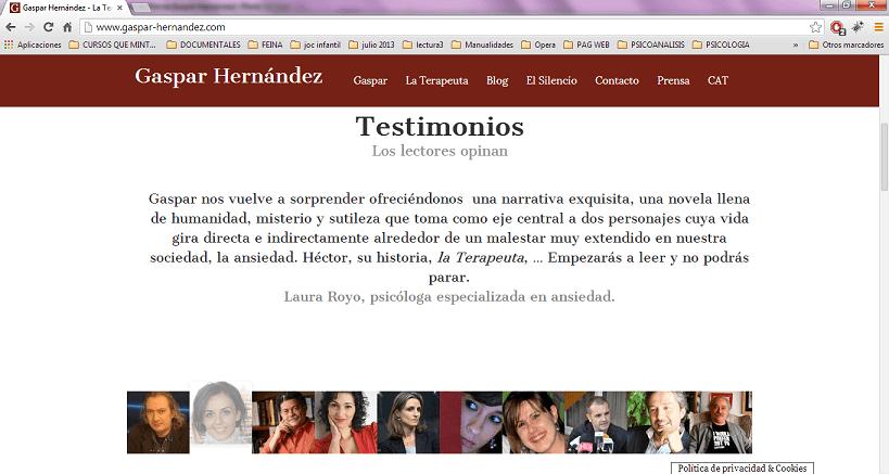 Testimonio La Terapeuta Gaspar Hernandez