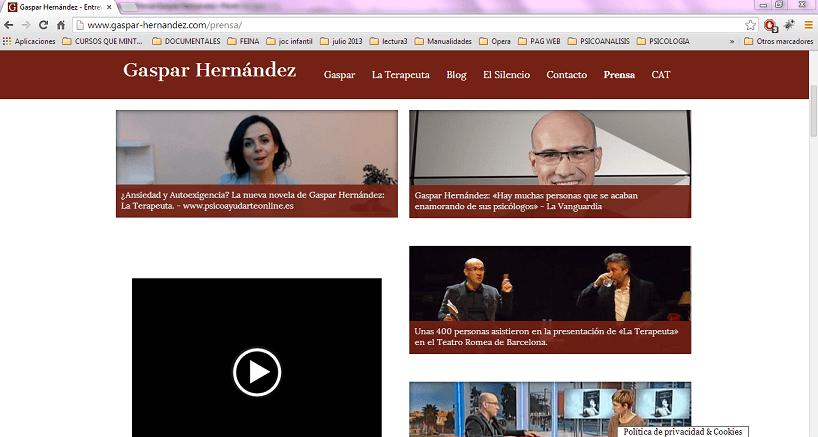 Testimonio Sala de Prensa Gaspar Hernandez